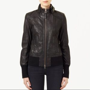 Mackage for Aritzia 'Elie' Leather Bomber